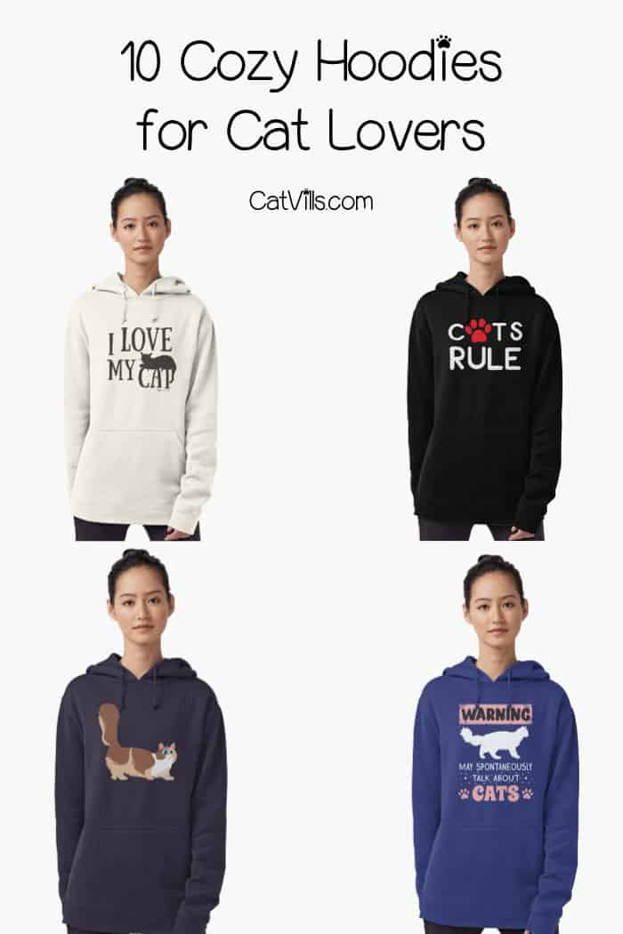 Stay warm in style this fall with our favorite hoodies for cat lovers! From adorable munchkin cat sweatshirts to hilarious quotes for all cat people, you'll love our selection!