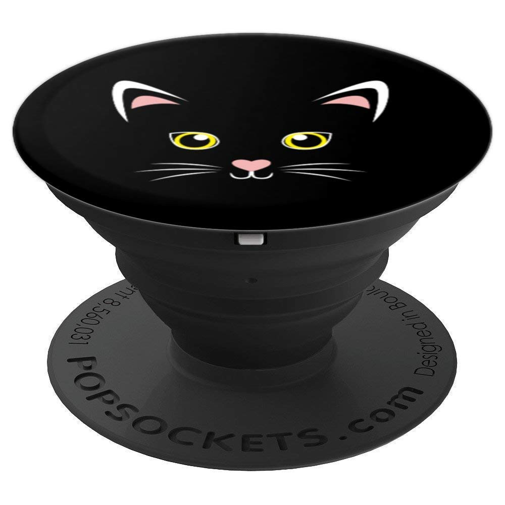 This insanely cute black cat PopSockets Phone Grip
