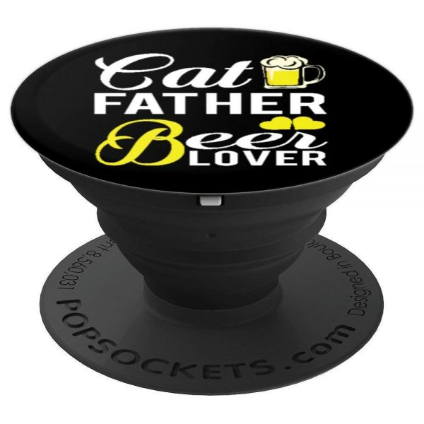 PopSockets for cat lovers Cat Father Beer Lover