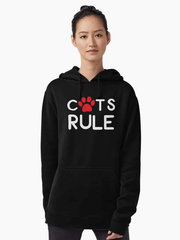 Hoodies for Cat Lovers Cats Rule: Stay warm in style this fall with our favorite hoodies for cat lovers! From adorable munchkin cat sweatshirts to hilarious quotes for all cat people, you'll love our selection!