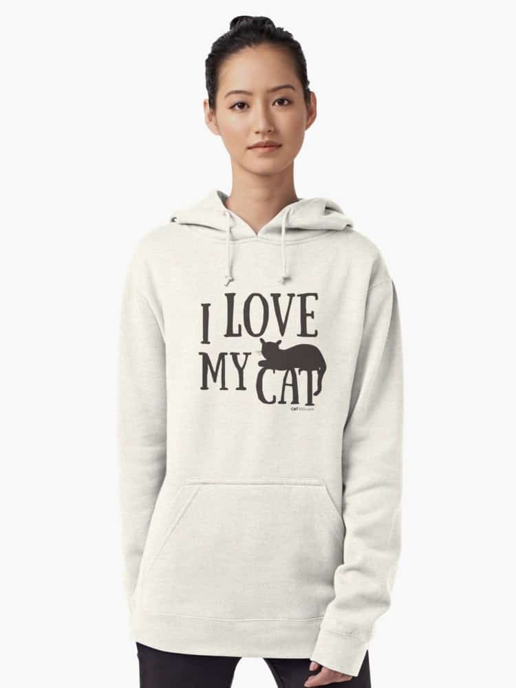 I Love My Cat Gift Ideas Cat Lovers Hoodie: Stay warm in style this fall with our favorite hoodies for cat lovers! From adorable munchkin cat sweatshirts to hilarious quotes for all cat people, you'll love our selection!
