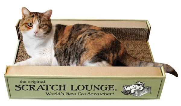 original scratch lounge cat bed