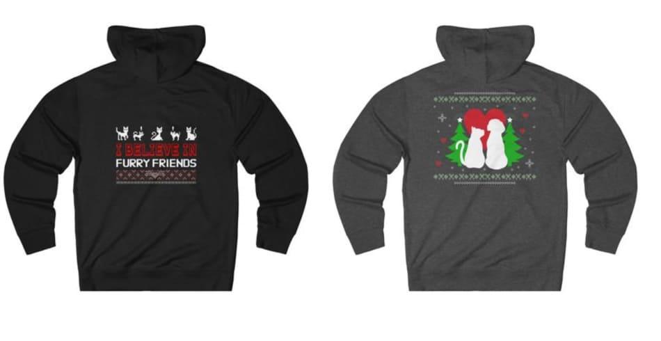 10 Fabulous Christmas Sweatshirts for Cat Lovers