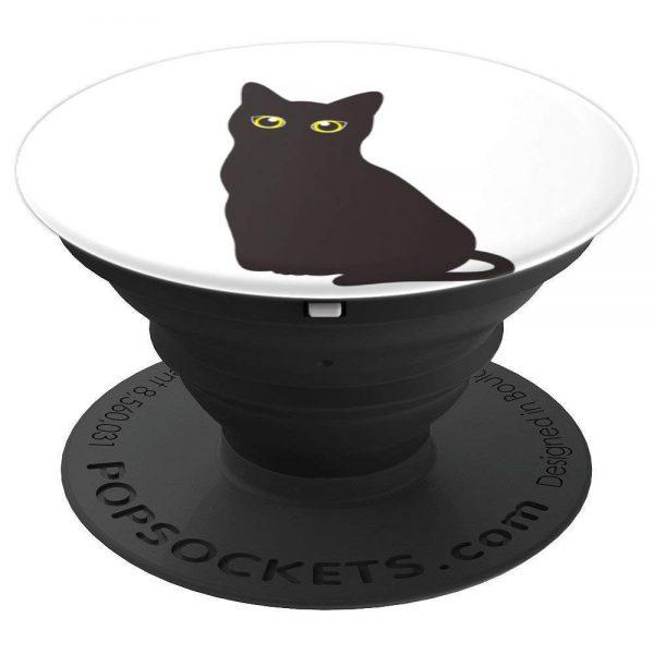 Cute Halloween Black Cat PopSockets for cat lovers