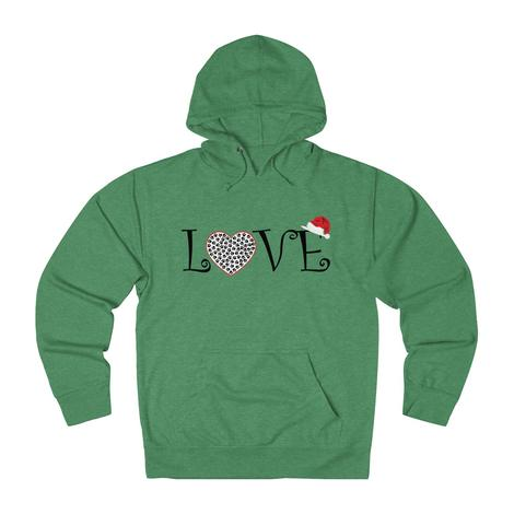 Love With A Heart-Filled Paw Small Christmas Hat hoodie