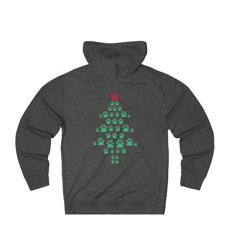 Super Cute Dog Paws Print Christmas Tree hoodie