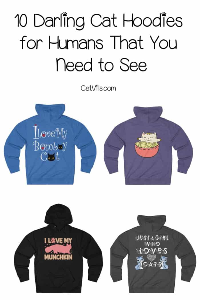 Looking for darling cat hoodies for humans (as in, you wear them, not your cat!)? You have to check out my top 10 current favorites.