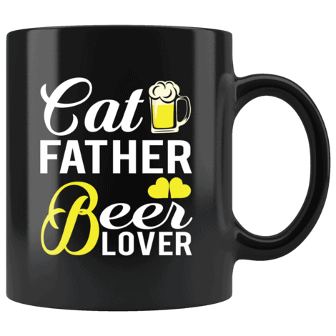 Funny Cat Father Beer Lover Mug