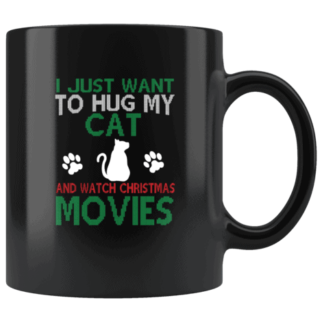 I Want To Hug My Cat Christmas Mug