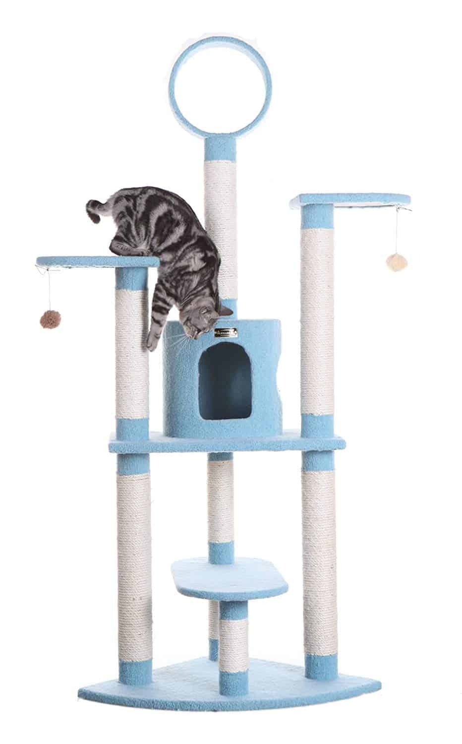 Best Blue Cat Tower Style Tree: Armakat Cat Sky BlueTree