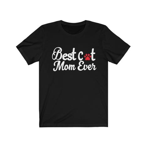Best Cat Mom Ever With A paw print T-Shirt