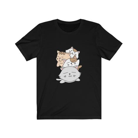 Kawaii cat Pile Tshirt for anime lovers