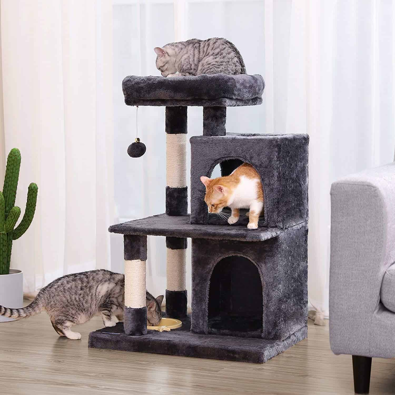 Best Space Saver Cat Tree with the Features of a Larger Tower