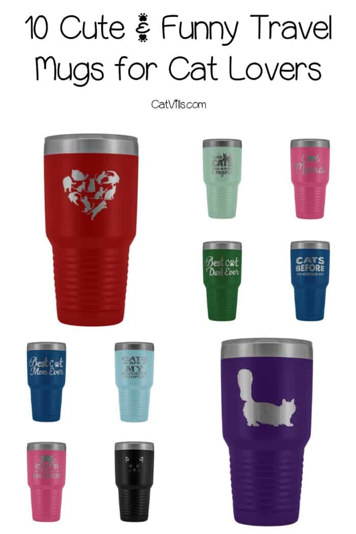 If you're need a great gift idea for your favorite pet mom or dad, you'll adore these 10 stainless steel travel mugs for cat lovers! Check them out!