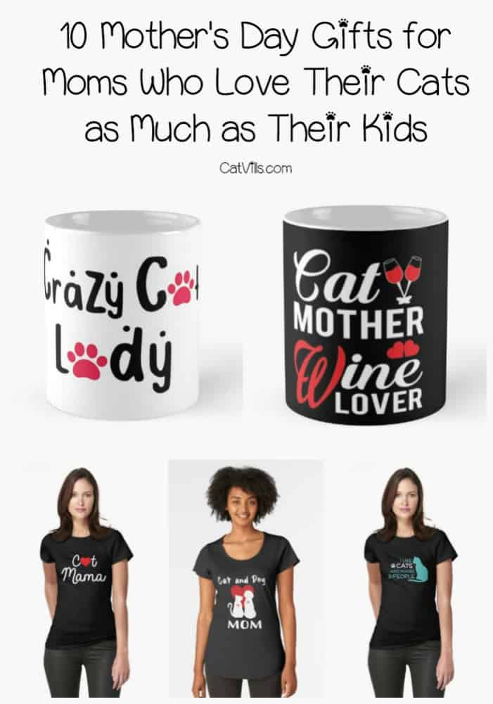 Looking for cute Mother's Day gifts for cat lovers? Check out these 10 gifts for moms who love their cats almost as much as their kids!