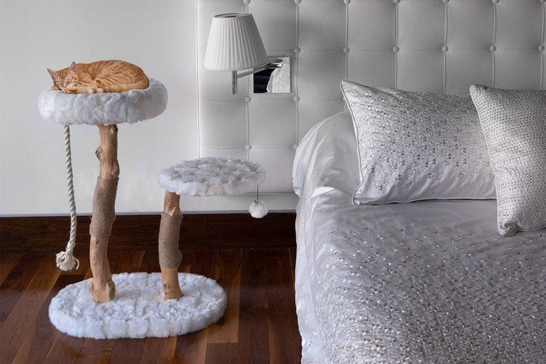 Modern Cat Furniture - Wood Cat Tree- Best cat trees with beds
