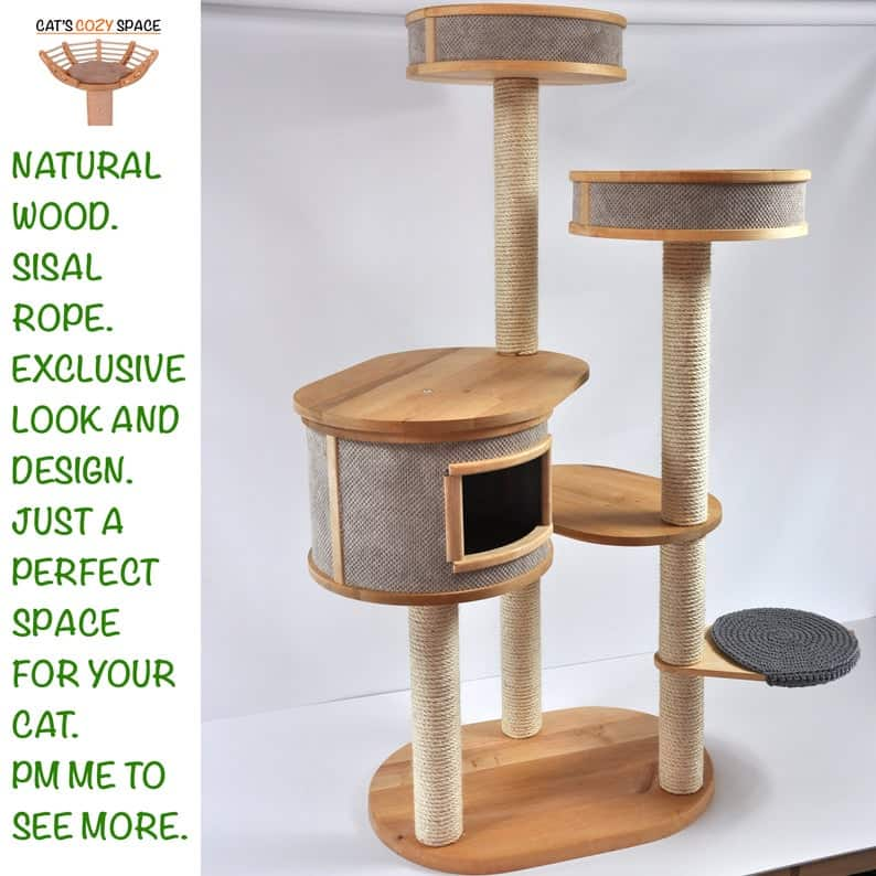 Cats Cozy Space Cat Tree of 3-Towers