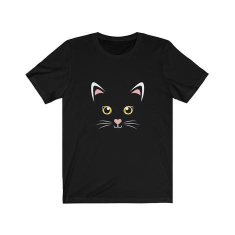 Cute Black Cat Face Halloween T-Shirt