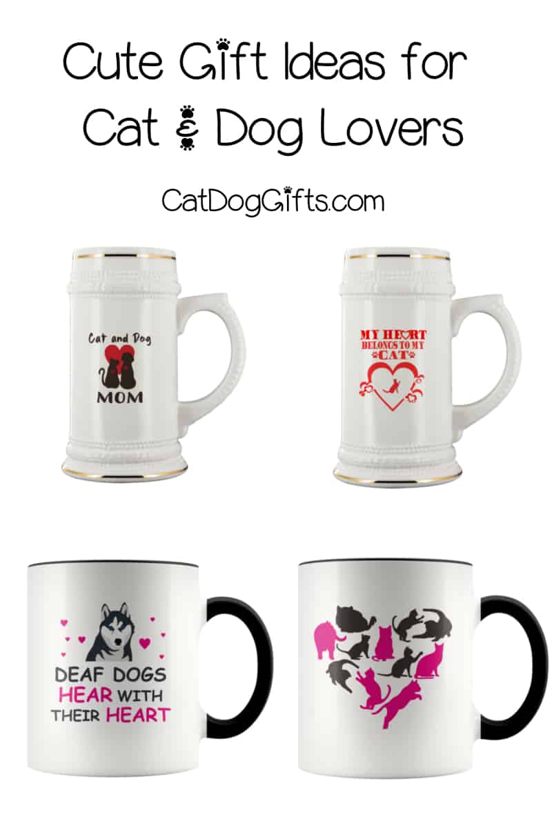 Have you seen our latest gift ideas for cat and dog lovers?  We just added a ton of cute mugs and beer steins that are perfect for Valentine's Day, Mother's Day, and Father's Day!