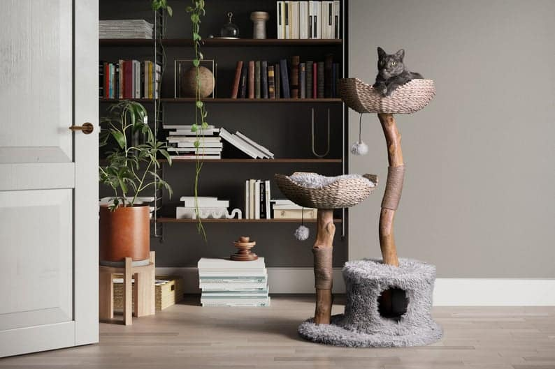 This image has an empty alt attribute; its file name is Mau-Wooden-Cat-Condo.jpg