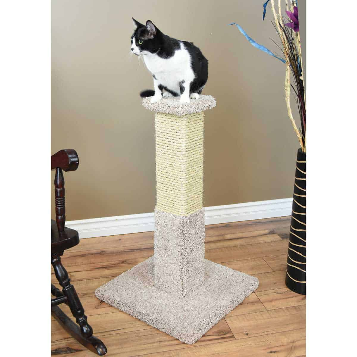 Cats Choice 34 inch Solid Wood Scratching Post a