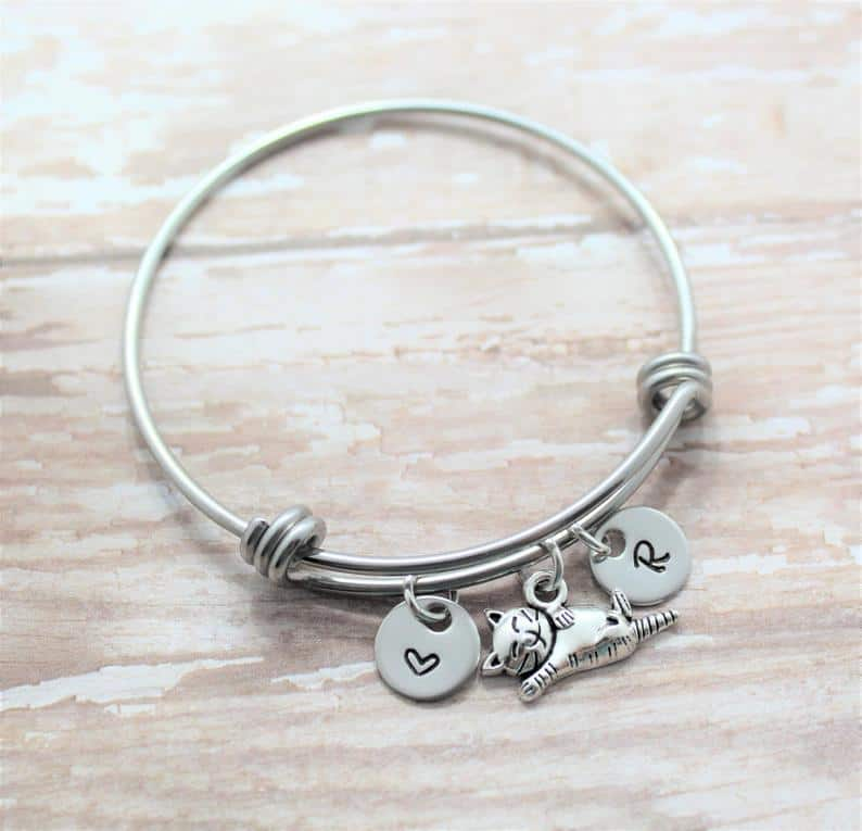Personalized Cat Bracelet