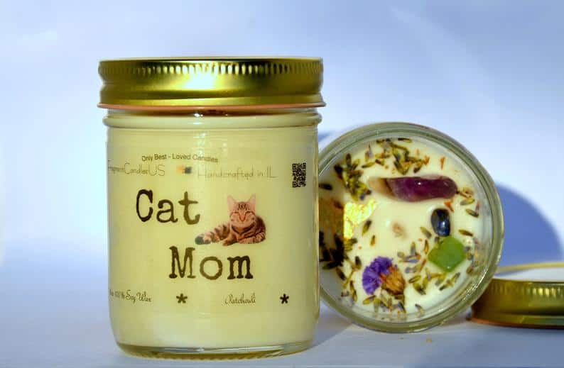 CAT LADY,Cat Lover Gifts,crystal candle