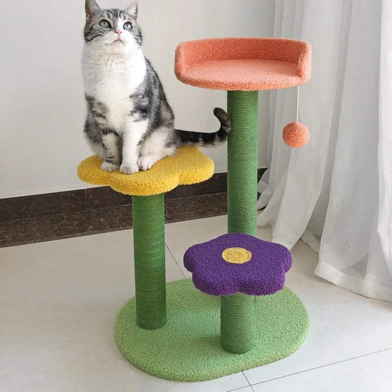 ASATURDAYSHOP COLORFUL CAT TREE TOWER
