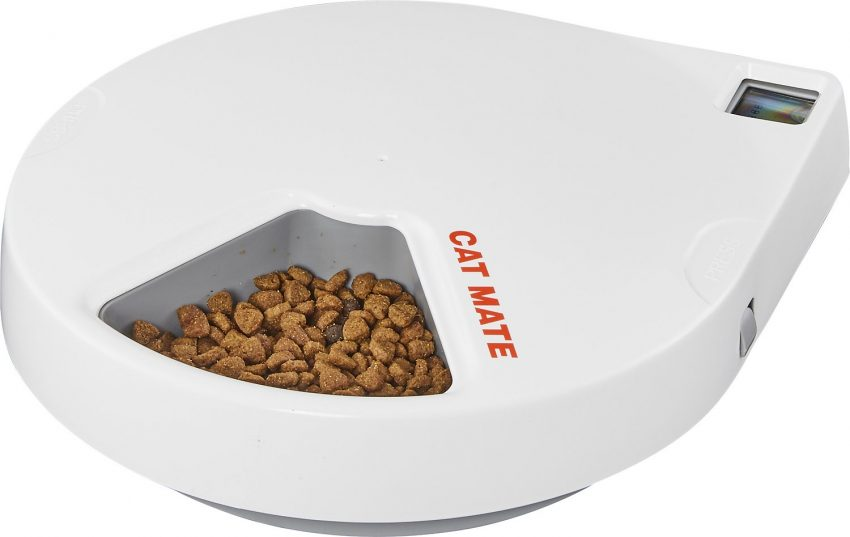 Cat Mate C500 Digital 5 Meal Automatic Dog & Cat Feeder By Cat Mate