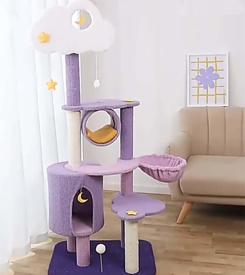 Catlovergift Starry Night Cat Tree Tower