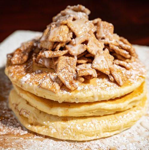 pancake with cinnamon toast crunch